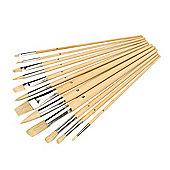 Silverline Artist Paint Brush Set 12pce Mixed Tip