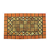 Rubber Doormat Rectangle - Brick-Terracota