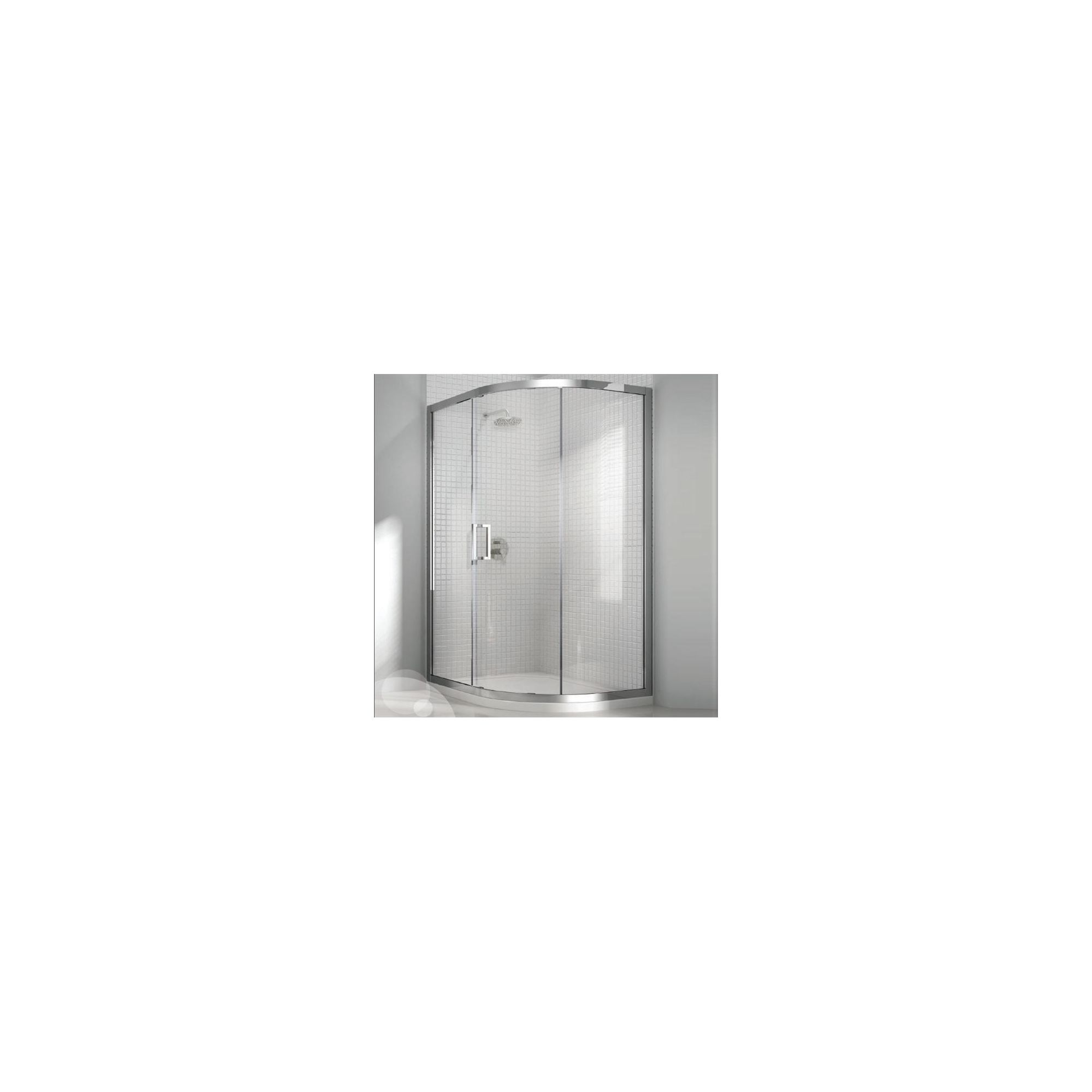 Merlyn Vivid Eight Offset Quadrant Shower Enclosure, 900mm x 760mm, Right Handed, Low Profile Tray, 8mm Glass at Tesco Direct