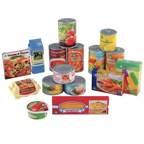 ELC Play Food Tins and Groceries