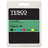 Tesco Epson T1626 Black, Cyan, Magenta, Yellow Multipack Fountain Pen