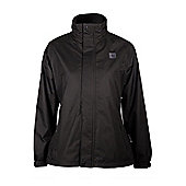 Fairway Womens Ladies Waterproof Rainproof Golf Golfing Jacket Coat - Black