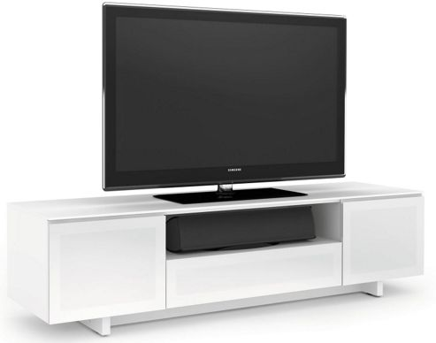 BDI Luxury Gloss White TV Cabinet