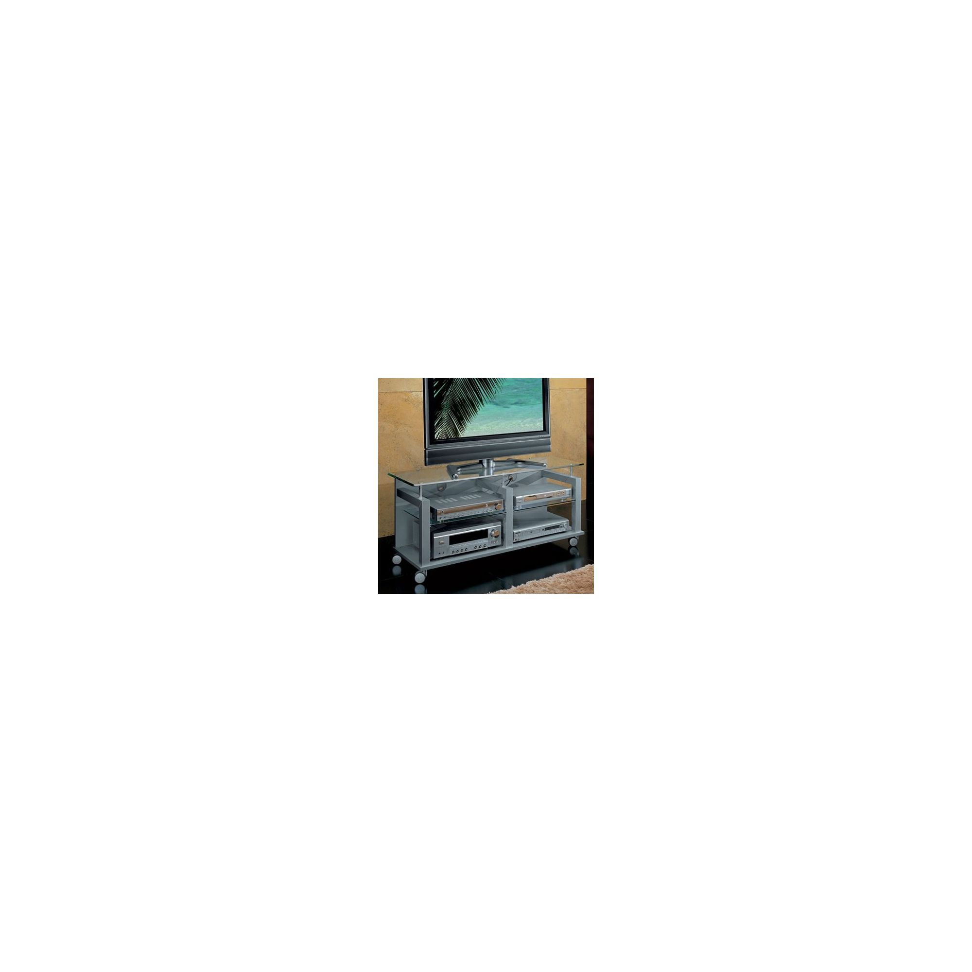 Triskom Wooden TV Stand for LCD / Plasmas - Silver at Tesco Direct