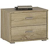 Value by Wayfair Clarkia 2 Drawer Bedside Table - Sonoma Oak