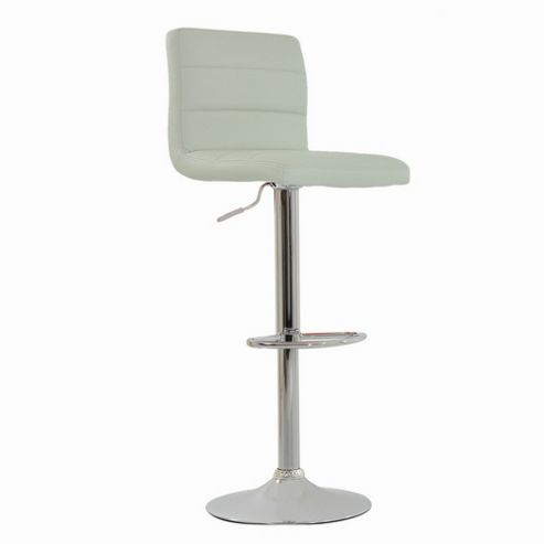 Adriatic White Faux Leather Bar Stool
