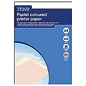 Tesco A4 Recycled Pastels Paper, 250 Sheets