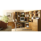 Enduro Home Office Corner Desk / Workstation - English Oak