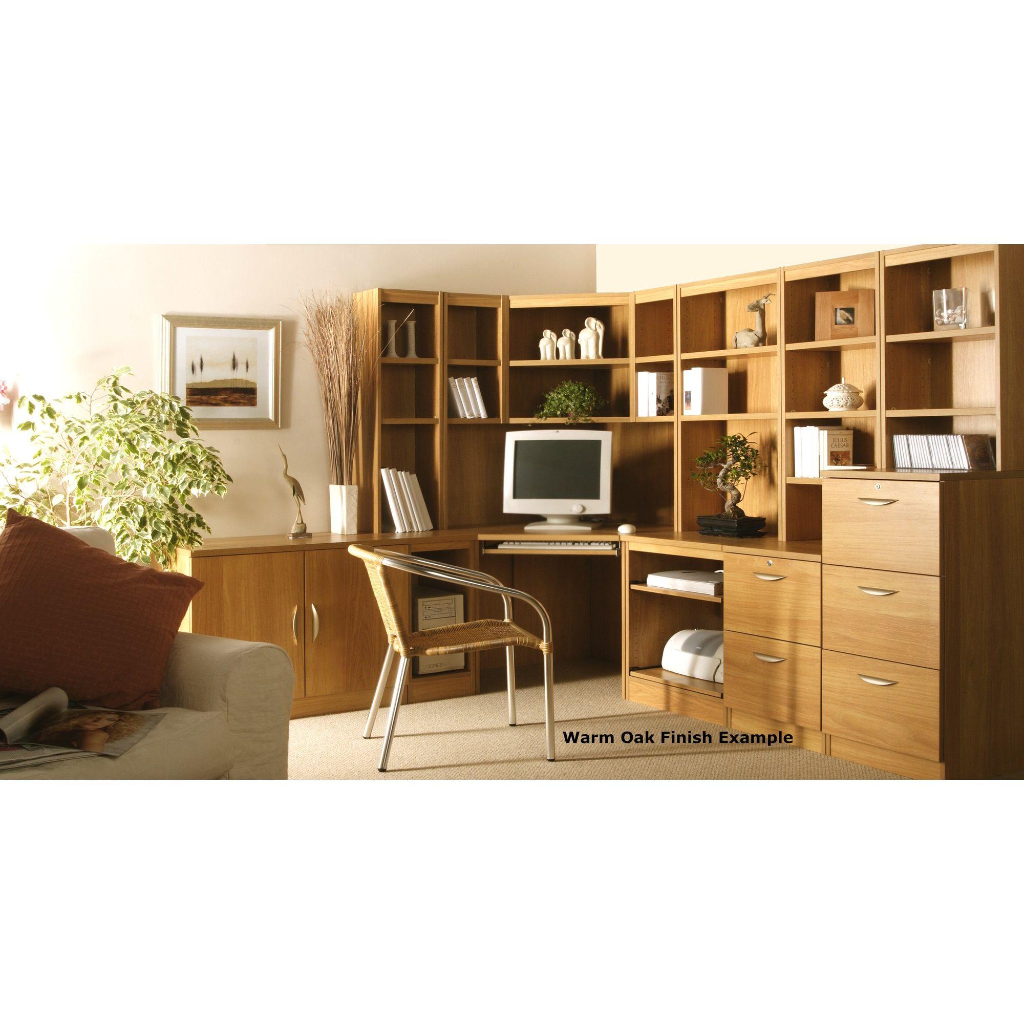 Enduro Home Office Corner Desk / Workstation - English Oak at Tesco Direct
