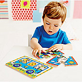 ELC Two Wooden Slot Together Puzzles