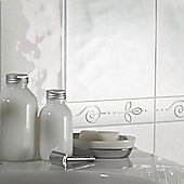 Reflections White Ceramic Wall Tile Satin 198x248mm Box of 20 (0.98 M² / Box)