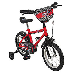 "Urban Racers 14"" Kids' Bike with Stabilisers"