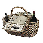Wicker Valley 4 Person Boat Hamper Picnic Basket