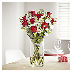 Valentine's Red Rose & Scented Stocks Bouquet