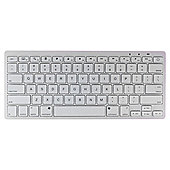 Kit Wireless Bluetooth Tablet Keyboard White