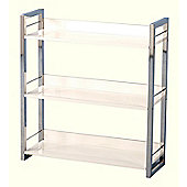 Boston Three Shelf Bookcase/Display Unit in Black - White