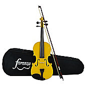 Forenza Uno Series Full Size Yellow Violin Outfit