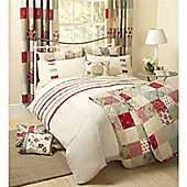 Dreams n Drapes Petticoat Red 66x72 inches (168x183cm) Lined Curtains - Red