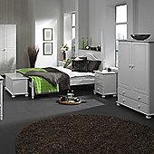 Nordic 3 Drawer Bedside White