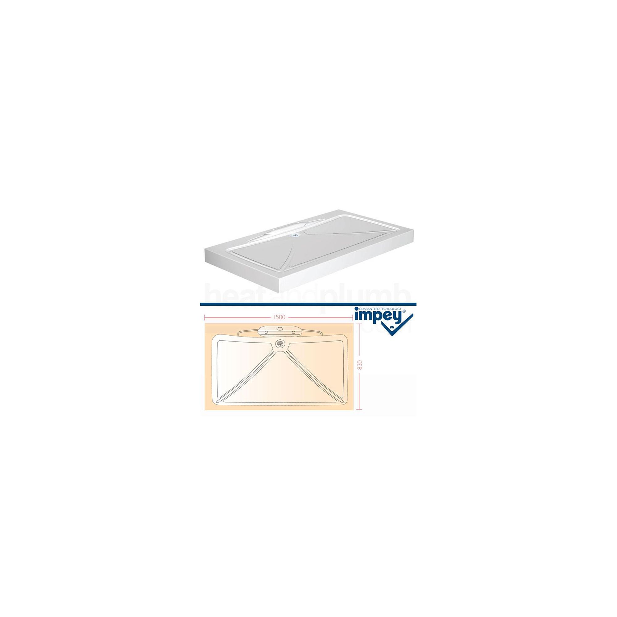 Impey Mendip Shower Tray 1500mm x 830mm at Tesco Direct
