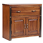 Core Products Forge FG721 Antique Brown petite 1 Drawer 2 Door Sideboard