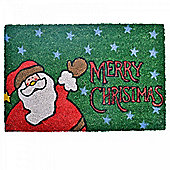 Merry Christmas Santa Clause Coir Doormat for the Home
