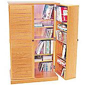 Techstyle CD / DVD / Blu-ray / Video Multimedia Storage Cabinet - Beech