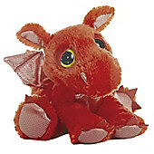 Aurora Dreamy Eyes Flame Dragon 30cm Red Plush Soft Toy