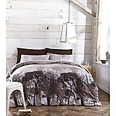 Catherine Lansfield Home Designer Collection Woodland Double Bed Duvet Cover Set