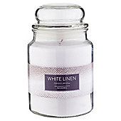 Tesco Jar Candle, White Linen