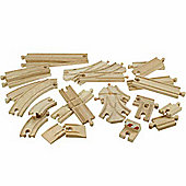 Bigjigs Wooden Railway 25 Piece Track Pack BJT