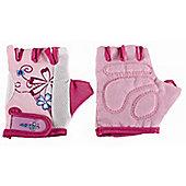 Kidzamo Girls Protective Cycle Glove / Mitt with Pink Flowers Design