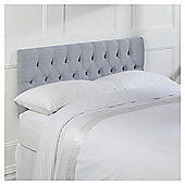 Seetall Preston Headboard Linen Effect Light Grey Double