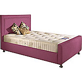 ValuFurniture Calverton Divan Bed and Mattress Set - Pink Chenille Fabric - Small Double - 4ft