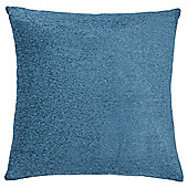 Plain Chenille Cushion, Petrol