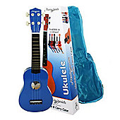 Martin Smith Standard Soprano Ukulele with Bag - Blue