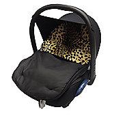 Tgraco Fit Animal Print Padded Car Seat Footmuff Junior/Logico Leopard