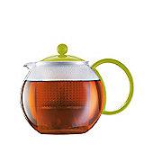 Bodum Assam 1.0 L Tea Press with Lime Green Lid & Handle