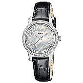 M-Watch Stones Ladies Leather MOP Dial Stone Set Watch A658.30502.02