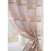 Strata Voile Curtain Panel - Brown