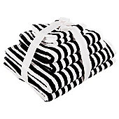 Tesco Black And White Stripe Bale
