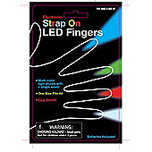 Strap on LED light fingers
