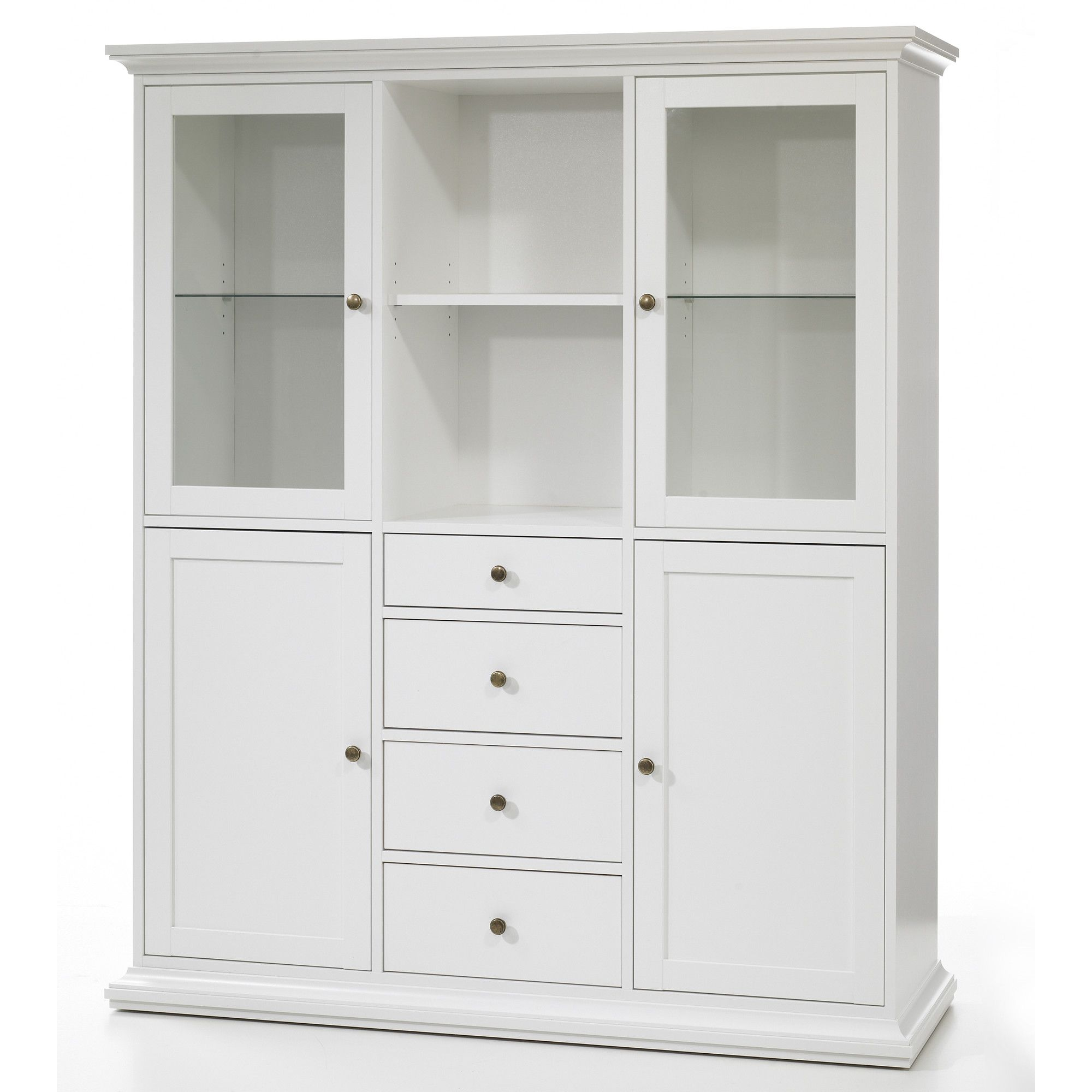 Tvilum Paris Sideboard with Four Doors and Four Drawers in White at Tesco Direct