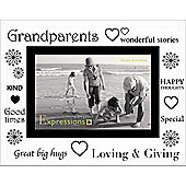 Sixtrees Moments Bevelled Glass Grandparents Photo Frame