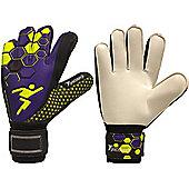 Precision Gk Matrix Flat Palm Odd Tech Junior Goalkeeper Gloves - Purple