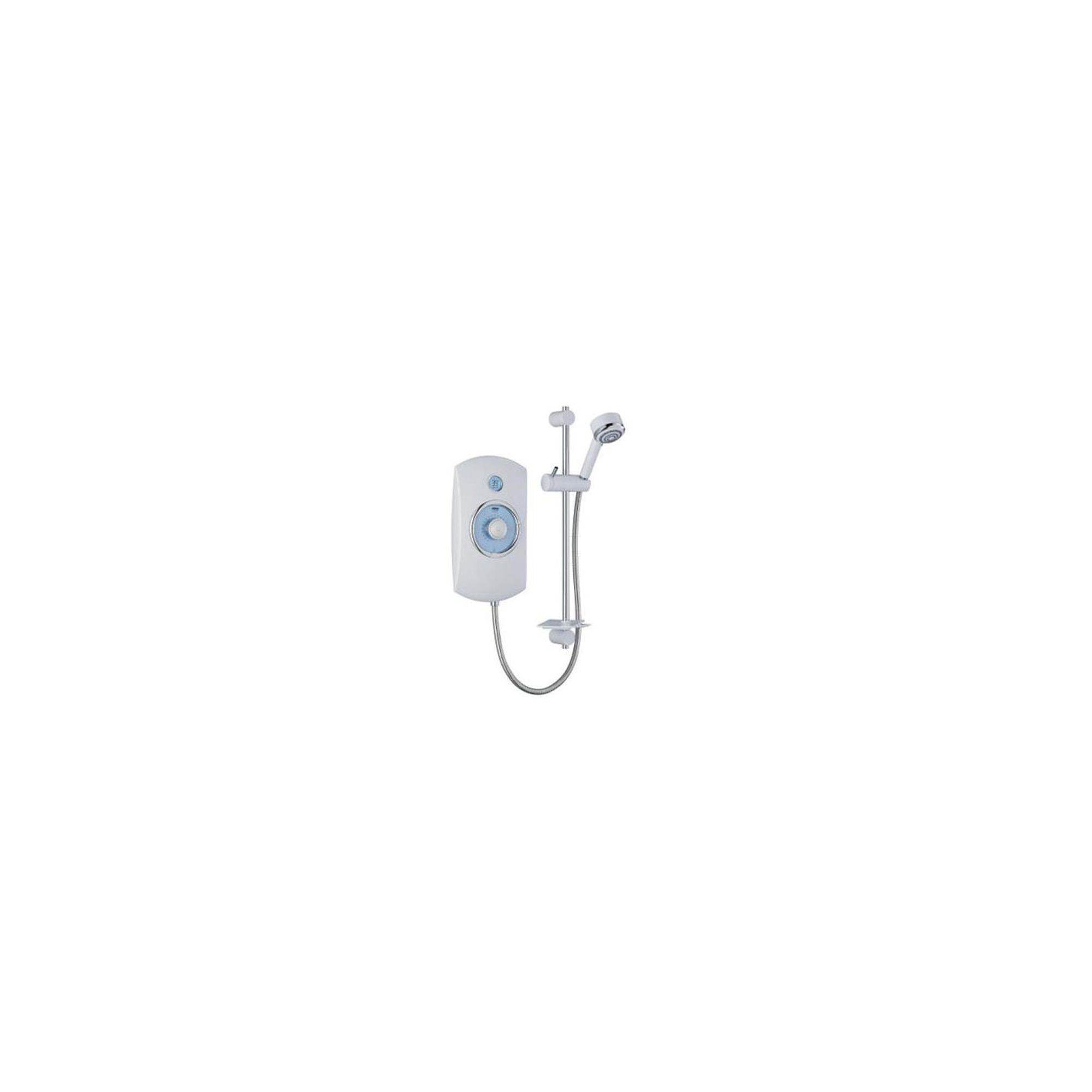 Mira Orbis 9.0 kW Electric Shower, Time and Temperature Display, White at Tesco Direct