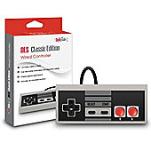 NES Nintendo Classic Mini Controller - TwitFish Retro GamePad (Old-Skool Grey), 1.8M / 6FT Classic Wired Game Controller