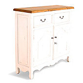 Oceans Apart Painted Provence Two Door Narrow Buffet in Antique White