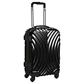 Beverly Hills Polo Club 4-Wheel Hard Shell Suitcase, Black Gloss Large