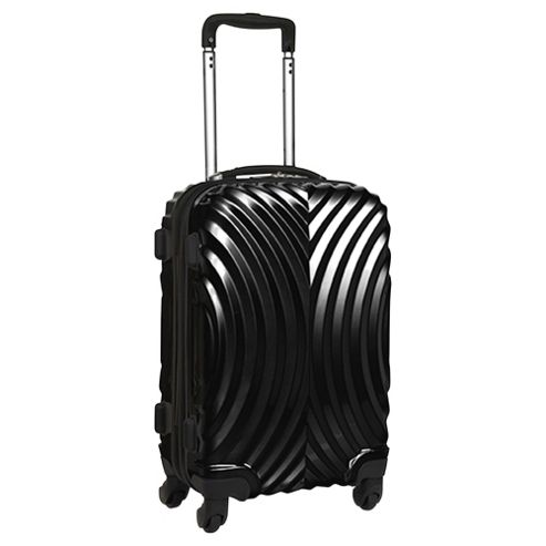 Beverly Hills Polo Club Hard Shell 4-Wheel Suitcase, Black Gloss Large